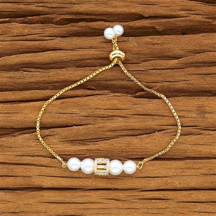 54167 CZ Adjustable Bracelet with 2 tone plating