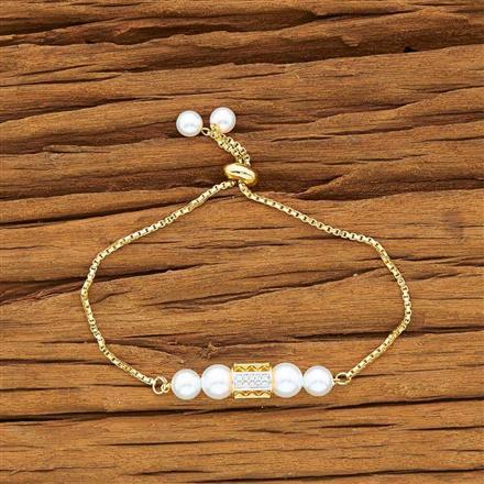 54169 CZ Adjustable Bracelet with 2 tone plating