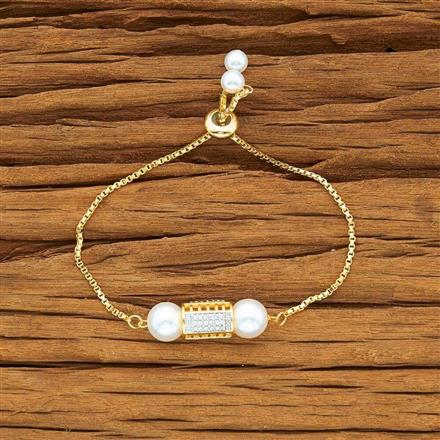 54174 CZ Adjustable Bracelet with 2 tone plating