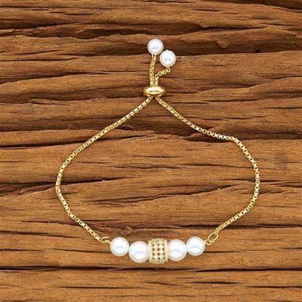 54175 CZ Adjustable Bracelet with 2 tone plating