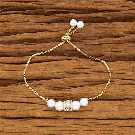 54176 CZ Adjustable Bracelet with 2 tone plating