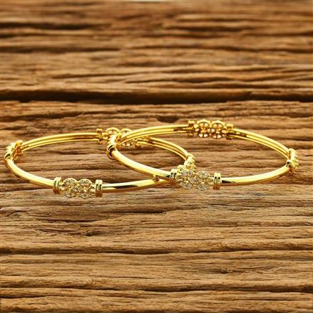 54185 CZ Classic Bangles with gold plating