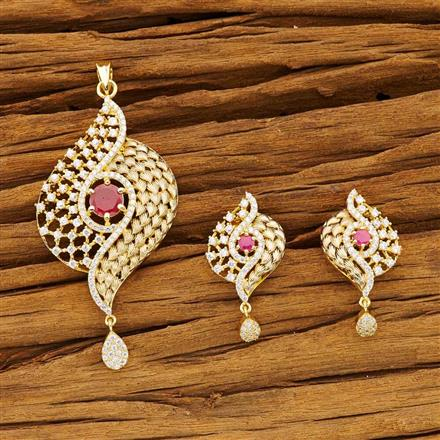 54194 CZ Classic Pendant Set with gold plating