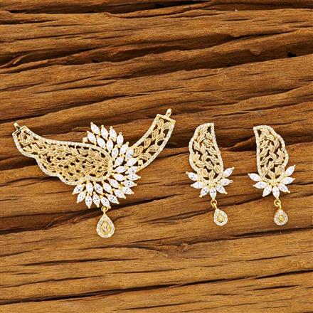 54198 CZ Classic Mangalsutra with gold plating