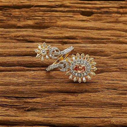 54199 CZ Classic Ring with 2 tone plating