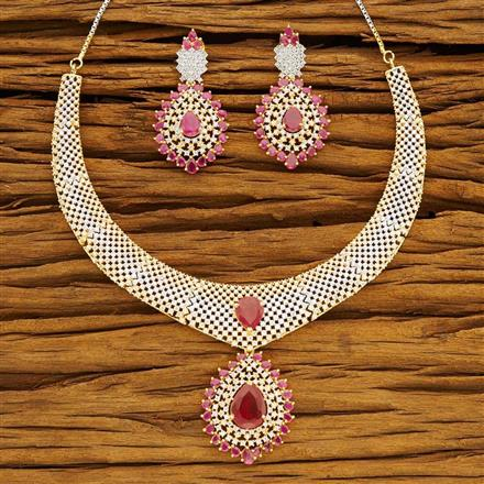 54200 CZ Classic Necklace with 2 tone plating