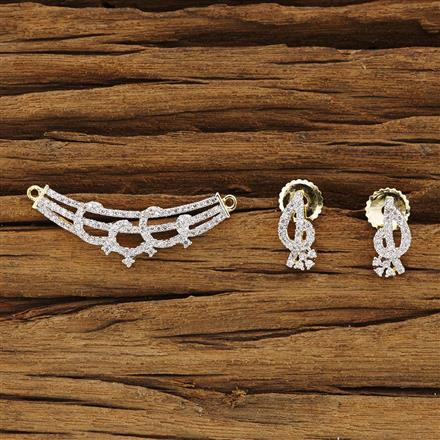 54269 CZ Delicate Mangalsutra with 2 tone plating