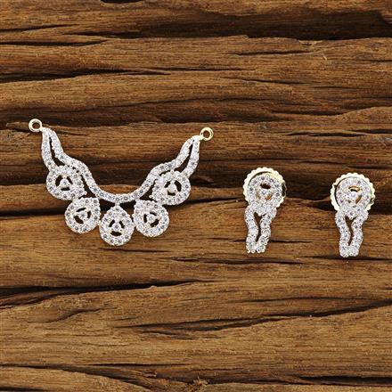 54270 CZ Delicate Mangalsutra with 2 tone plating