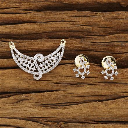 54271 CZ Delicate Mangalsutra with 2 tone plating