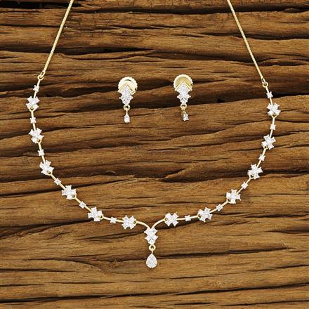 54274 CZ Delicate Necklace with 2 tone plating