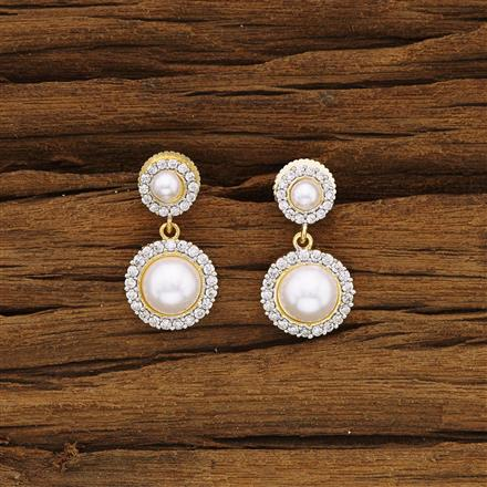 54286 CZ Delicate Earring with 2 tone plating