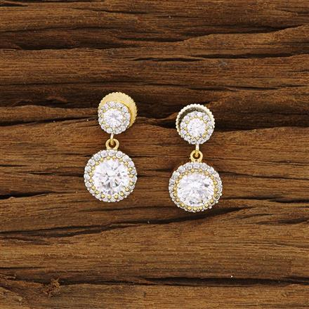 54288 CZ Delicate Earring with 2 tone plating