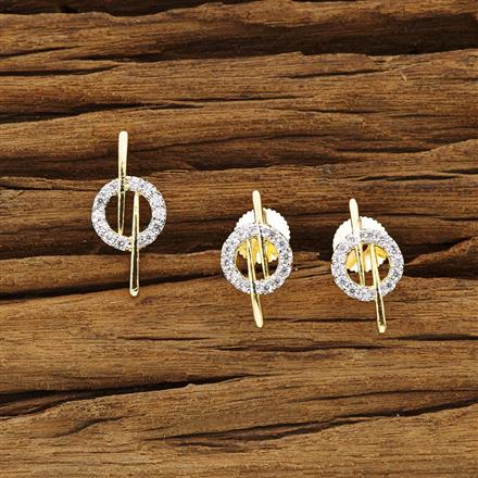 54323 CZ Delicate Pendant Set with 2 tone plating