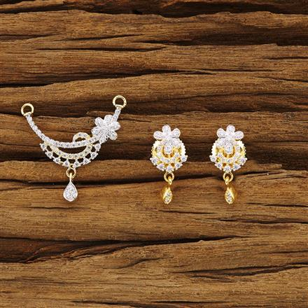 54358 CZ Delicate Mangalsutra with 2 tone plating