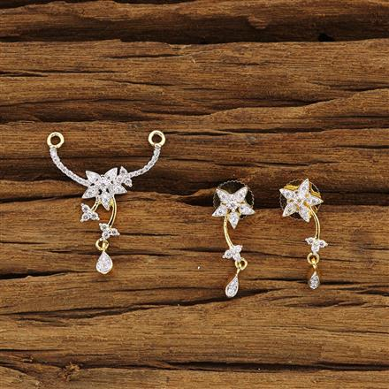 54359 CZ Delicate Mangalsutra with 2 tone plating