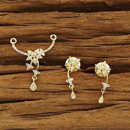 54360 CZ Delicate Mangalsutra with gold plating