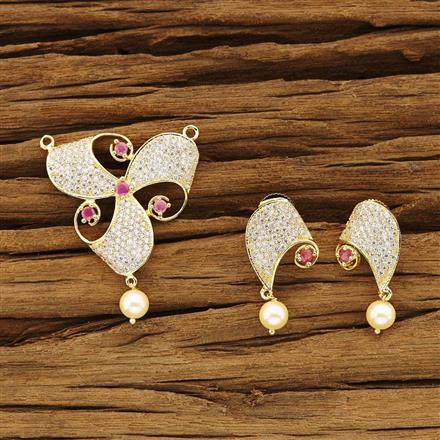 54378 CZ Classic Mangalsutra with gold plating