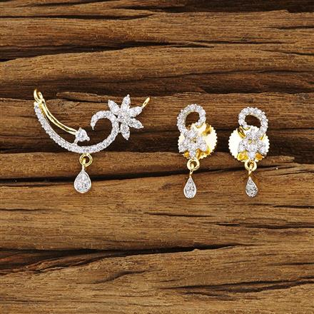 54380 CZ Delicate Mangalsutra with 2 tone plating