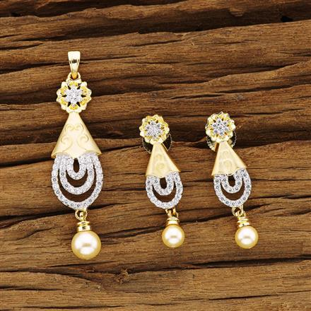54381 CZ Classic Mangalsutra with 2 tone plating
