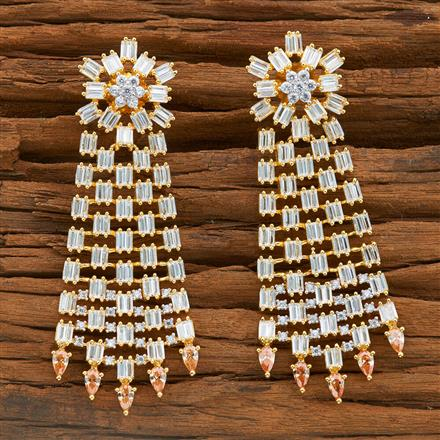 54393 CZ Classic Earring with 2 tone plating