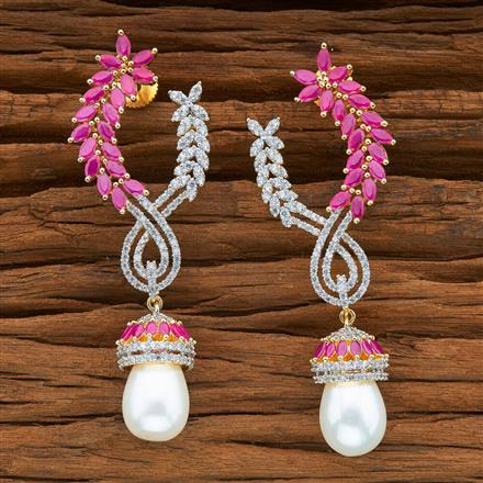 54394 CZ Classic Earring with 2 tone plating