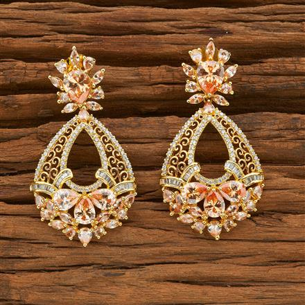 54395 CZ Classic Earring with gold plating