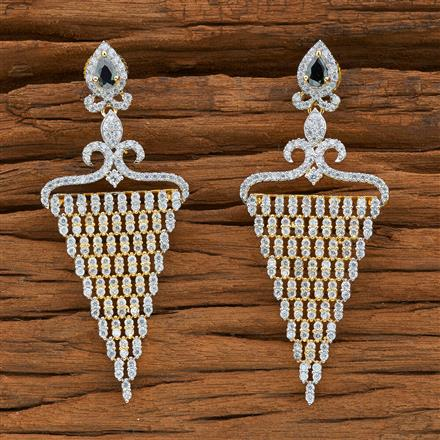 54396 CZ Classic Earring with 2 tone plating