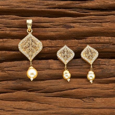 54403 CZ Delicate Pendant Set with gold plating