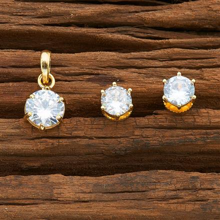 54404 CZ Delicate Pendant Set with gold plating