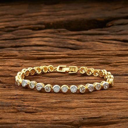 54406 CZ Classic Bracelet with 2 tone plating