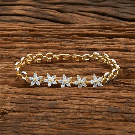 54408 CZ Classic Bracelet with 2 tone plating