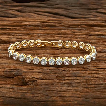 54409 CZ Classic Bracelet with 2 tone plating