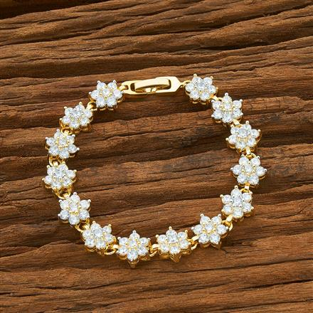 54413 CZ Classic Bracelet with 2 tone plating