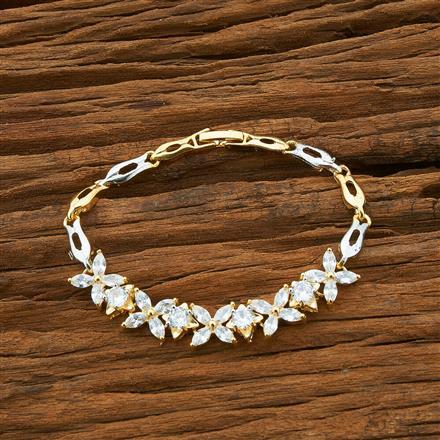 54414 CZ Classic Bracelet with 2 tone plating