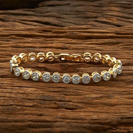 54415 CZ Classic Bracelet with 2 tone plating