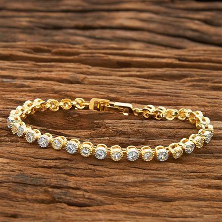 54417 CZ Classic Bracelet with 2 tone plating