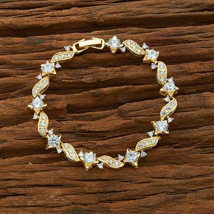 54418 CZ Classic Bracelet with 2 tone plating
