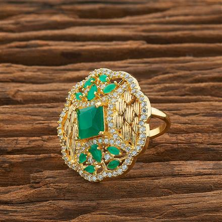 54425 CZ Classic Ring with gold plating