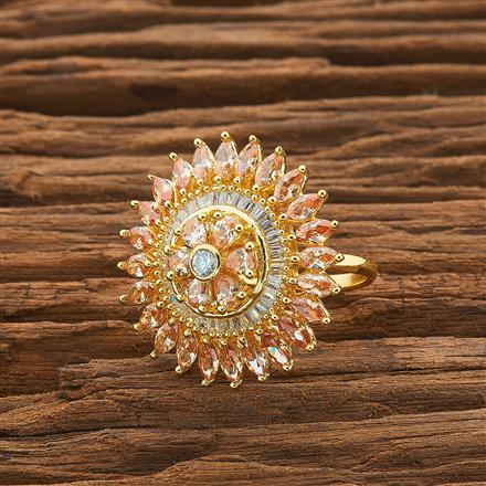 54426 CZ Classic Ring with gold plating