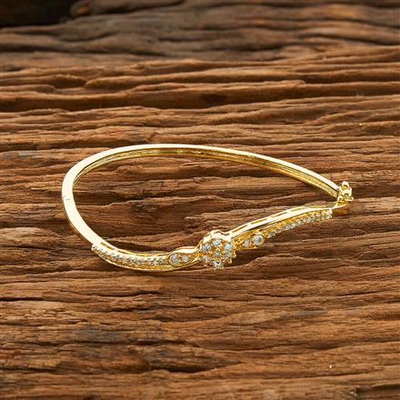 54468 CZ Delicate Kada with gold plating