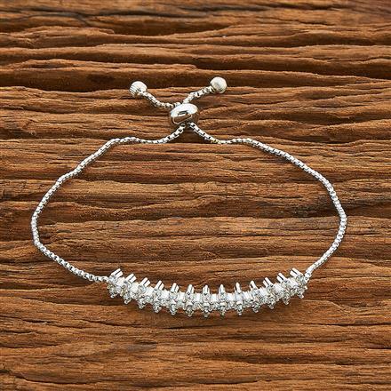 54478 CZ Adjustable Bracelet with rhodium plating
