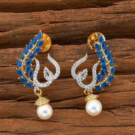 54500 CZ Chand Earring with 2 tone plating