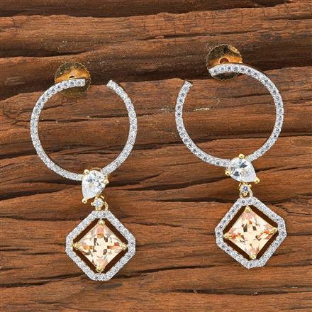 54501 CZ Chand Earring with 2 tone plating