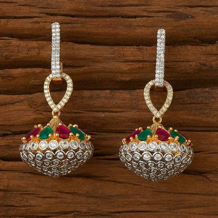 54505 CZ Classic Earring with 2 tone plating