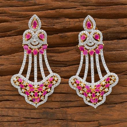 54507 CZ Classic Earring with 2 tone plating
