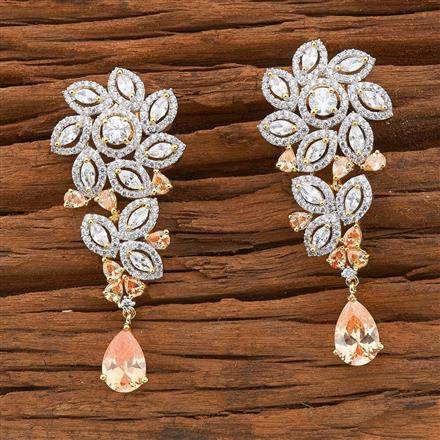 54508 CZ Classic Earring with 2 tone plating