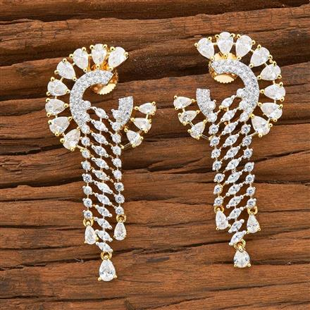 54510 CZ Classic Earring with 2 tone plating
