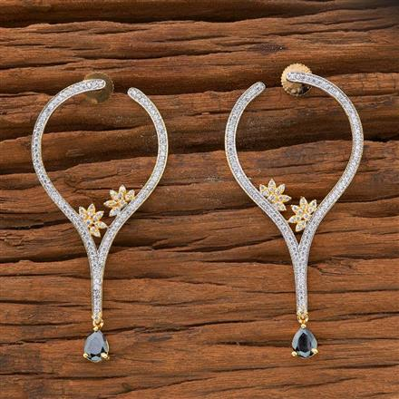 54511 CZ Classic Earring with 2 tone plating