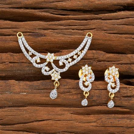 54518 CZ Classic Mangalsutra with 2 tone plating