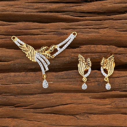 54519 CZ Classic Mangalsutra with 2 tone plating